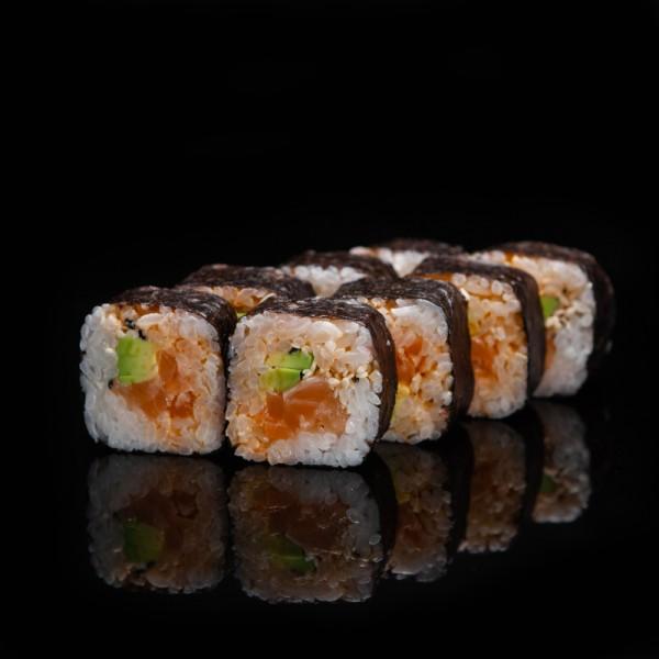 Азия с копченным лососем